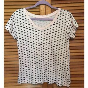 Joe Boxers Pale Pink Heart Pattern T-shirt Size XL